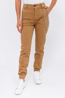 Женские джинсы с цепочкой Re-Dress - бежевый цвет, L (40) (7002-1)