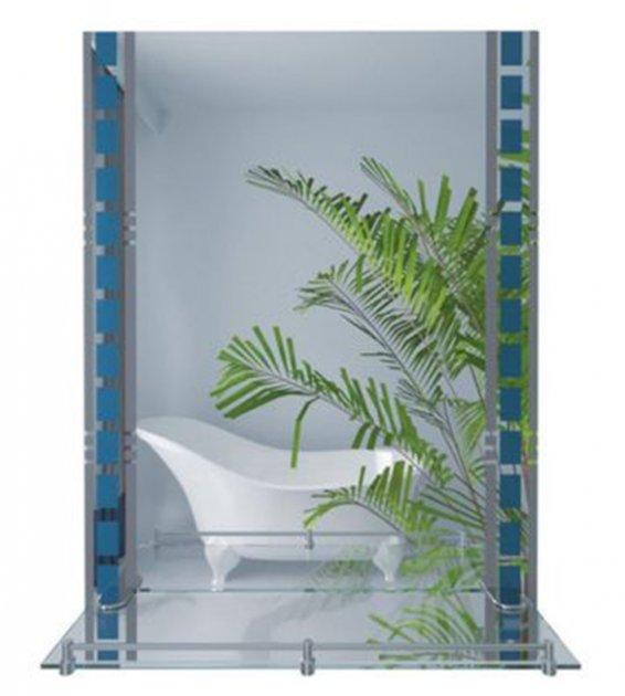 Зеркало LIDZ (WHI)-140.07.06 700x500 с полкой - изображение 1