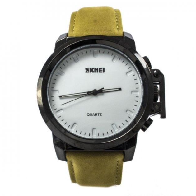 Мужские часы Skmei 1208 Yellow Leather BOX (1208BOXYL) - изображение 1