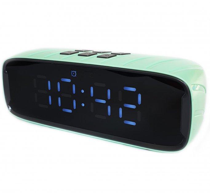 Портативна Bluetooth стерео колонка годинник будильник WSTER WSA-858 BT(858) - зображення 1
