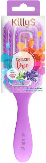 Щетка для волос KillyS с ароматом лаванды Color Love 417757 (5902704177574) - изображение 1