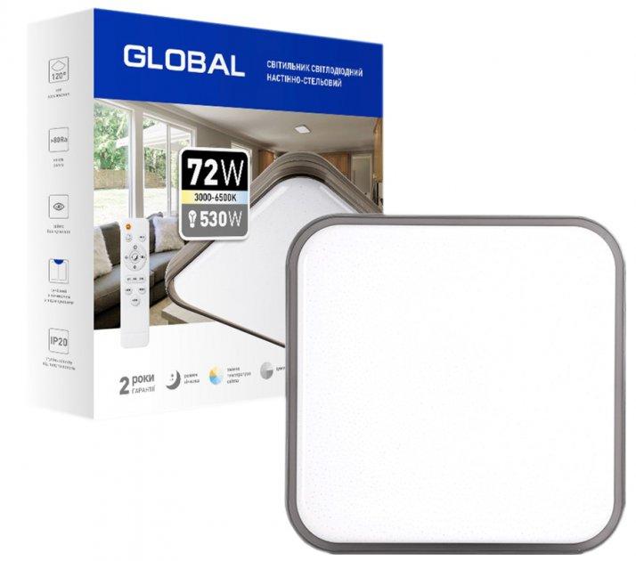 Настінно-стельовий світильник Global 72TW 3000-6500 K з пультом ДК (1-GFN-72TW-02-S) - зображення 1