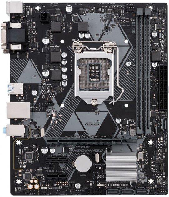 Материнская плата Asus Prime H310M-K R2.0 (s1151, Intel H310, PCI-Ex16) - изображение 1