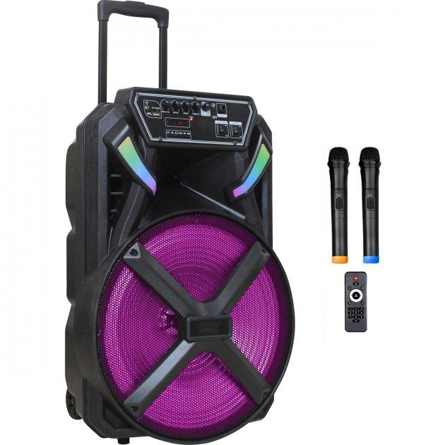 Автономна активна акустична система BiG 230BAT два радіо мікрофона, караоке - зображення 1