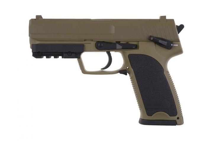Пістолет Cyma HK USP Metal CM.125 AEP tan (Страйкбол 6мм) - зображення 1