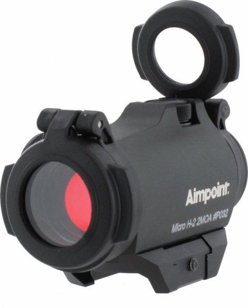 Коліматорний приціл Aimpoint Micro H-2 2МОА Weaver/Picatinny із захисними кришками (200185) - зображення 1