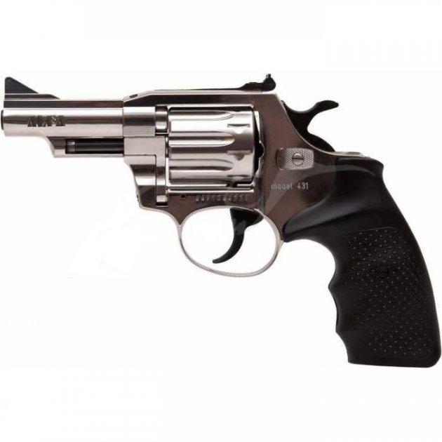 Револьвер флобера Alfa mod. 431 4 мм никель/пластик - зображення 1