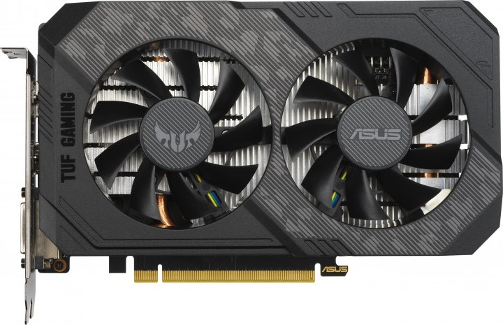 Asus PCI-Ex GeForce GTX 1650 Super TUF OC Gaming 4GB GDDR6 (128bit) (1530/12002) (DVI, HDMI, DisplayPort) (TUF-GTX1650S-O4G-GAMING) - изображение 1