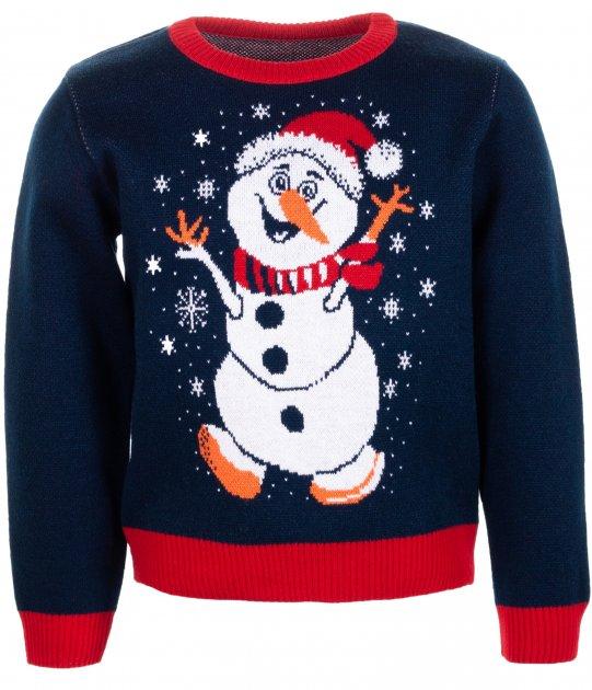 Джемпер Flash Рождество 19BG134-6-3900 122 см NY Синий (2200000248596) - изображение 1