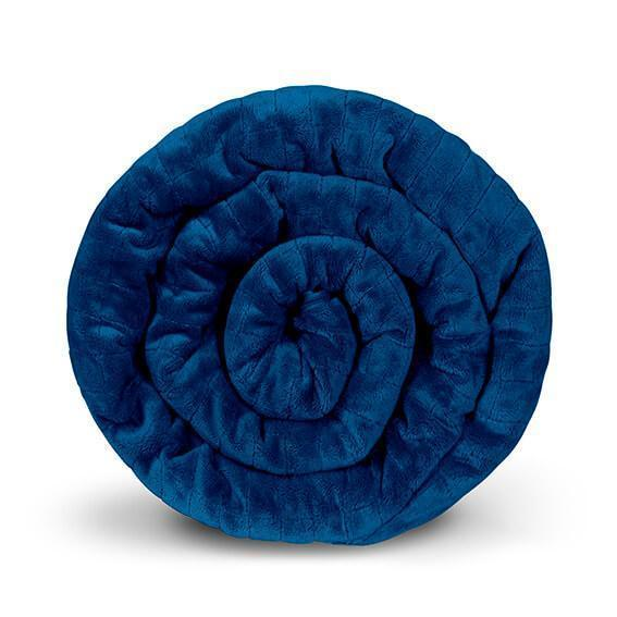 Одеяло утяжеленное (тяжелое) сенсорное GRAVITY 150x220см 6кг Темно-синее - изображение 1