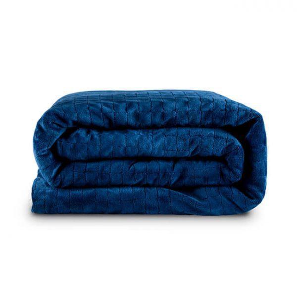 Утяжеленное (тяжелое) детское сенсорное одеяло Gravity 90x120см 3кг Темно-синее - изображение 1