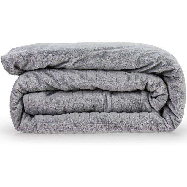 Утяжеленное (тяжелое) детское сенсорное одеяло Gravity 90x120см 4кг Серое - изображение 1