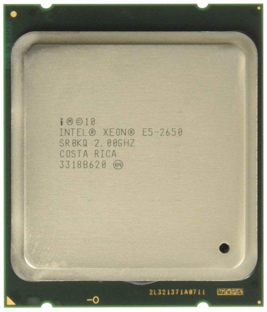 Процессор Intel Xeon E5-2650 (S2011/8x2.0GHz/8GT/s/20MB/95Вт/BX80621E52650) Б/У - изображение 1