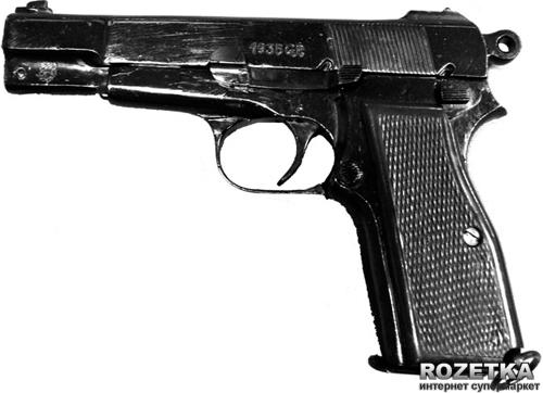 Макет пістолета Браунінг HP або GP35, Бельгія 1935 рік, Друга світова війна, Denix (1235) - зображення 1