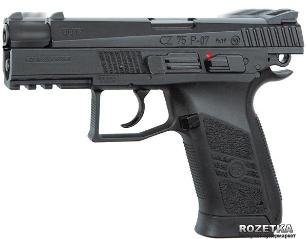 Пневматический пистолет ASG CZ 75 P-07 Blowback (23702520) - изображение 1
