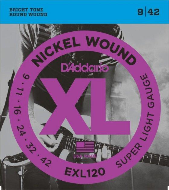 DAddario EXL120 XL Nickel Steel (9-42) - зображення 1