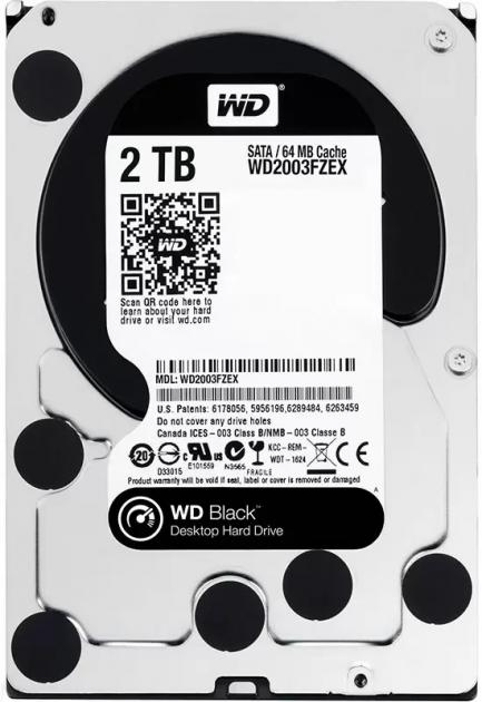 Жорсткий диск Western Digital Black 2TB 7200rpm 64MB WD2003FZEX 3.5 SATA III - зображення 1