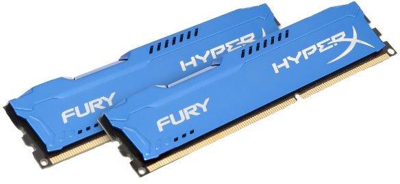 Оперативна пам'ять HyperX DDR3-1866 8192MB PC3-14900 (Kit of 2x4096) FURY Blue (HX318C10FK2/8) - зображення 1