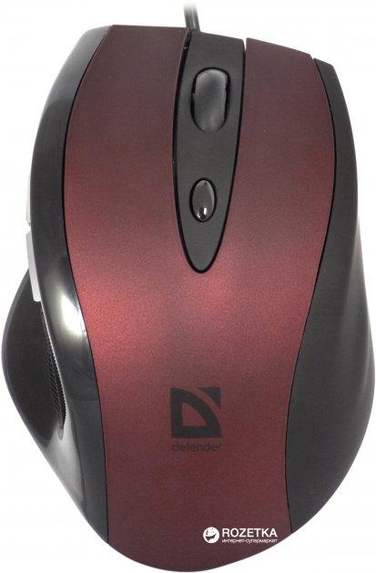 Мышь Defender Opera 880 USB Black/Red (52832) - изображение 1