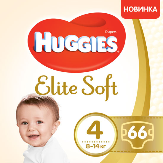 Подгузники Huggies Elite Soft 4 Mega 66 шт. (5029053546339) (5029053545301)