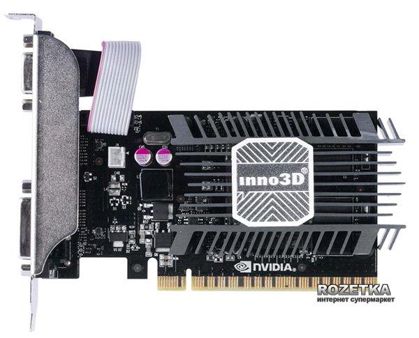 INNO3D PCI-Ex GeForce GT 730 LP 2048MB DDR3 (64bit) (902/1600) (DVI, VGA, HDMI) (N730-1SDV-E3BX) - изображение 1