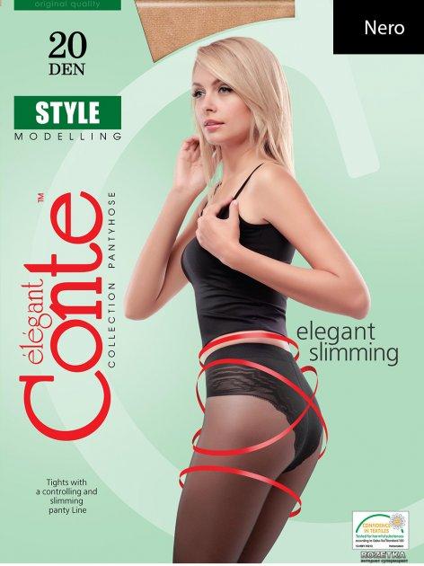 Колготки Conte Style 20 Den 4 р Nero -4811473004329 - изображение 1