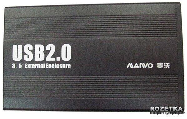 """Зовнішня кишеня Maiwo для HDD 3.5"""" SATA USB 2.0 Black (K3502-U2S) - зображення 1"""