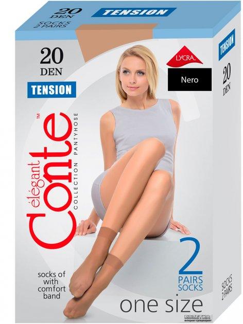 Носки Conte Tension 20 Den 2 пары Nero (4810226002544) - изображение 1