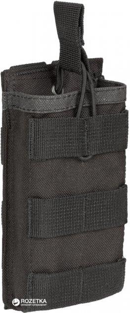 Подсумок открытый для одного магазина АК / М16 P1G-Tac MOLLE Rifle Mag Bunji Pouch RMBP-1 P120002-1BK Черный (2000980353392) - изображение 1