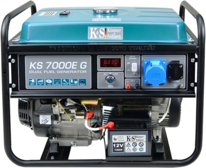Генератор газобензиновый Konner&Sohnen KS 7000E G - изображение 1