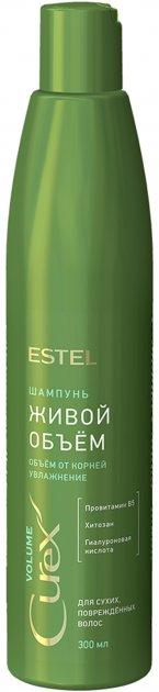 Шампунь Estel Professional Curex Volume Живий об'єм для сухого і пошкодженого волосся 300 мл (CU300 / S1) (4606453063911) - зображення 1