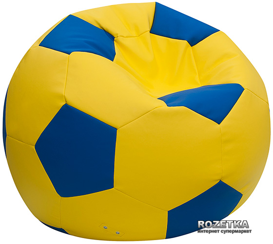 Пуф-М'яч Примтекс Плюс Fan H-2240/H-2227 XS Yellow-Blue (ordf) - зображення 1