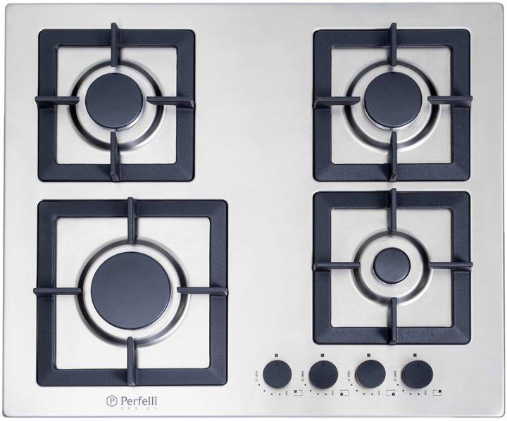 Варочная поверхность газовая PERFELLI DESIGN HGM 6430 INOX SLIM LINE - изображение 1