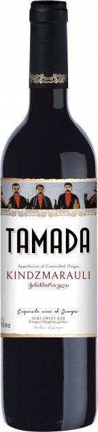 Вино Tamada Kіндзмараулі червоне напівсолодке 0.75 л 11% (4860004070043) - зображення 1