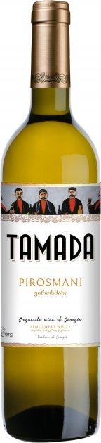 Вино Tamada Пиросмани белое полусладкое 0.75 л 12% (4860004070142) - изображение 1