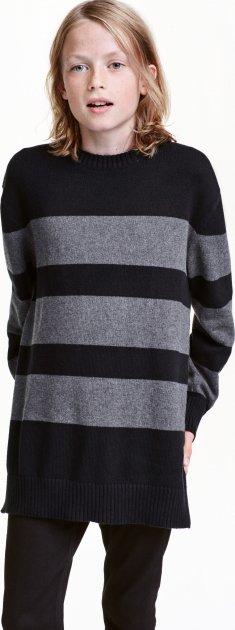 Джемпер H&M 0425424 134-140 см Сірий з чорним (6666000067869) - зображення 1