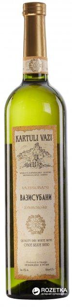 Вино Kartuli Vazi Вазисубани белое сухое 0.75 л 12% (4860001680238) - изображение 1