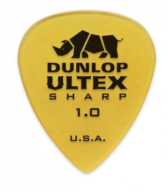 Медіатори Dunlop 433P1.0 Ultex Sharp Player's Pack 1 мм (6 шт.) - зображення 1