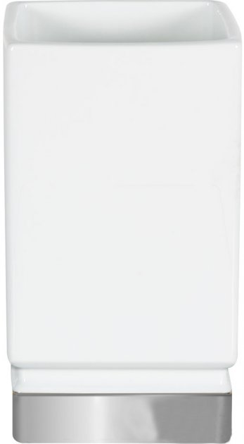 Стакан Spirella Roma 7х12х6.5 см Білий з сріблястим (10.17968) - зображення 1