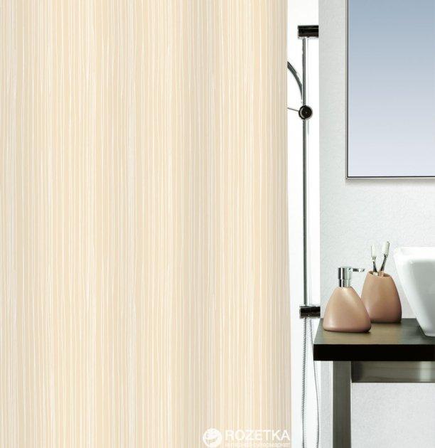 Шторка для ванной Spirella Raya 180x200 Polyester Бежевая (10.14417) - изображение 1