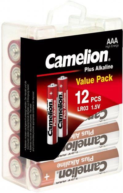 Батарейки Camelion Plus Alkaline AAA (LR03) 12 шт (LR03-PBH12) - изображение 1