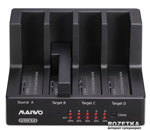 """Док-станція Maiwo для 4xHDD 2.5""""/3.5"""" SATA/SSD USB 3.0 (K3094) - зображення 1"""