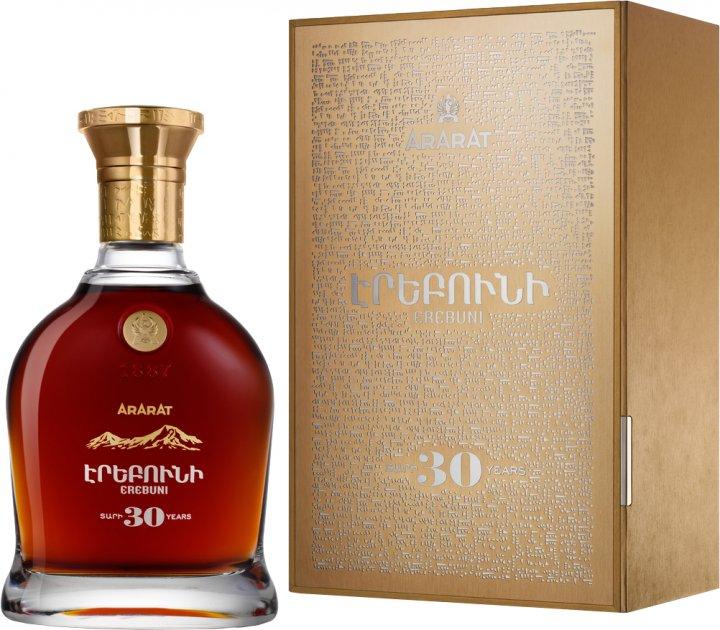 Бренди ARARAT Эребуни 30 лет выдержки 0.7 л 40% в подарочной упаковке (4850001002215) - изображение 1