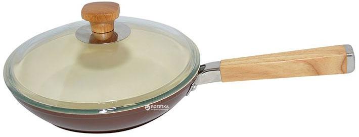 Сковорода Krauff Tabacco с крышкой 22 см (25-45-050) - изображение 1