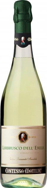 Вино игристое Contessa Matilde Lambrusco Dell Emilia белое полусладкое 0.75 л 8% (8019153801053) - изображение 1