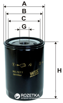 Фильтр масляный WIX Filters WL7071 - FN OP526/1 - изображение 1