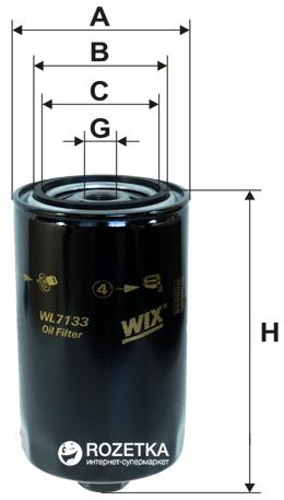 Фильтр масляный WIX Filters WL7133 - FN OP574 - изображение 1