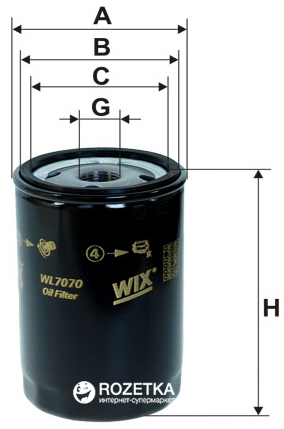 Фильтр масляный WIX Filters WL7070 - FN OP526 - изображение 1