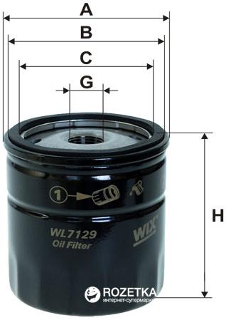 Фильтр масляный WIX Filters WL7129 - FN OP570 - изображение 1