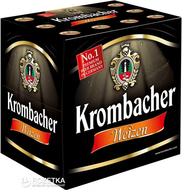 Упаковка пива Krombacher Wheat світле нефільтроване 5.3% 0.5 л x 12 шт (4008287760941) - зображення 1